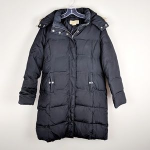 Michael Kors | Black Hooded Puffer Coat - M5